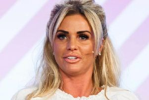Katie Price, formerly linked to a Chesterfield builder, has spoken of the time she spent a night in Simon Cowell's bed and felt his 'hairy chest'.