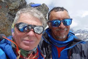 Mick Fowler (left) and Vic Saunders