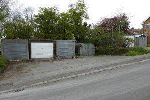 This garage site on Newbridge Street, Old Whittington had a guide price of 10,000 and sold for 54,000.
