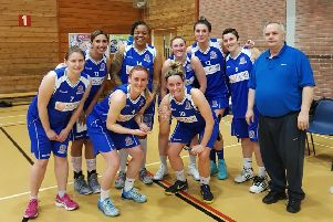 All smiles from the Encon Derbyshire Gems team after reaching the play-off semi-finals.