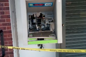 Thieves pumped gas into a cash machine at a Selston store in a bid to steal it.