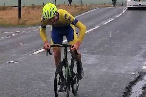 Aaron Chambers-Smith on his way to glory in the Welsh countryside.
