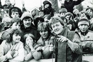 Cheggars played pop and proved the tops when BBC's Superstore came to Chesterfield in January, 1985'Bubbling Keith Chegwin proved a big hit with hundreds of Chesterfield youngsters who braved the cold and occasional snow flurry to greet him.'And he led them through a feast of fun and games as the Superstore set up shop outside Chesterfield Town Hall.