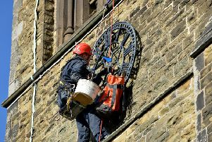St Bartholomew's Church clock being removed for repairs ahead of Remembrance Sunday