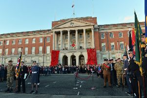 Chesterfield remembrance day parade and service.