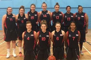 Proud Derbyshire Diamonds, who have won their first two games in the National Women's Basketball League.