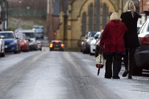 The Met Office is warning of icy conditions with possible sleet and snow.