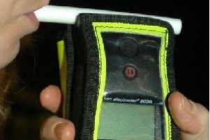 Drink-driving breathalyser.