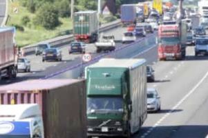 One lane on the M1 has been closed after a vehicle broke down.