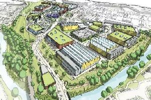 Graphic showing the Meadowhall Way development