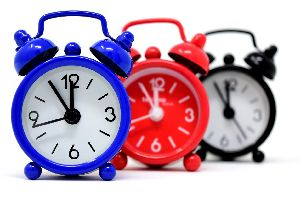 Make sure you don't over-sleep by forgetting to put your clocks forward.