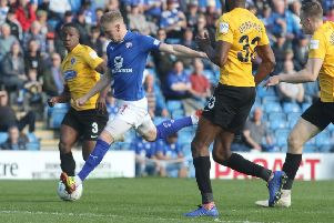 Chesterfield FC v Dagenham and Redbridge, Scott Bioden scores