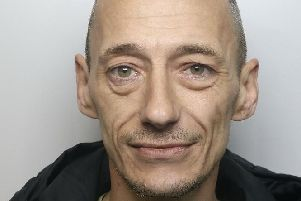 Pictured is Melvyn Jones, 43, of WardlowClose, Boythorpe, Chesterfield, who has been jailed for 26 weeks after being convicted of six thefts, failing to surrender to custody, breaching a suspended sentence, breaching a conditional discharge and failing to comply with post sentence supervision.