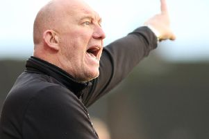 Alfreton Town v Stockport, manager Billy Heath