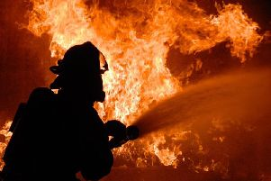 Firefighters were called to more than 1,100 'deliberate' blazes in Chesterfield and Derbyshire last year.