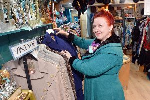Lydia Watters in her new shop, Lady Peacock Vintage HQ. Pictures and video by Brian Eyre.