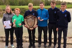 The victorious Chesterfield Golf Club juniors team who are now county champions.