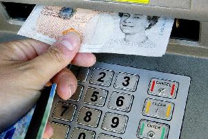 Cash machine numbers are dwindling.
