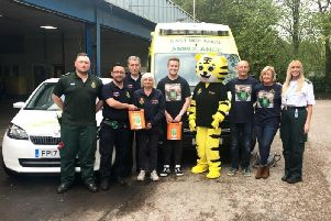 The Tom Henson Charity has donated two defibrillators to the Chesterfield Community First Responders.