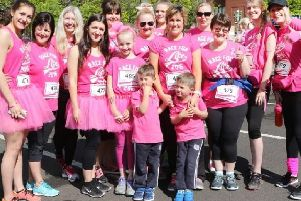 Race for Life in Chesterfield.