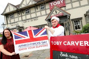 Toby Carvery is offering a free meal to military personnel this Armed Forces Day.