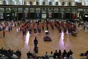 Military tattoo at Devonshire Dome, Buxton.