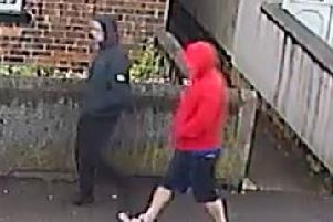 Police have issued images of two men they want to speak to in connection with the incident.
