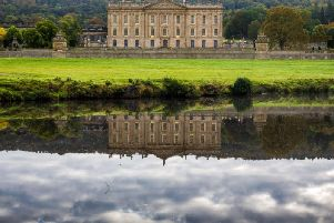 Chatsworth House features at the start of the video.