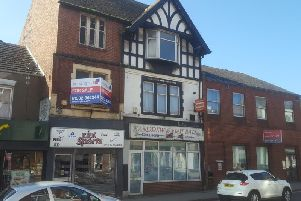 The former Andrew's Fish Bar in Alfreton.