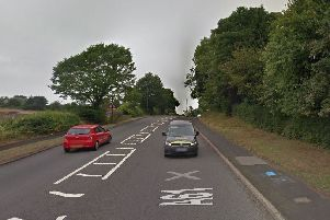 The crash happened on the A61 Derby Road between Tapton and Wingerworth. Pic: Google Images.