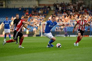 Liam Mandeville on the ball for Chesterfield
