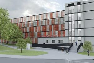 An artist's drawing of Chesterfield's new multi-storey car park.