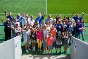 Central England Co-operative hosted an event at Chesterfield Football Club for a group of youngsters from Belarus visiting the UK with the Chernobyl Children Lifeline Pinxton and East Derbyshire charity.