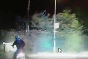 Moped was chased
