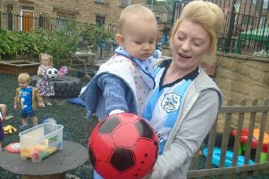 Little Acorns Nursery in Mirfield recently held a football themed day with children dressing in their football kits or sporty clothes to take part in the action-packed event.