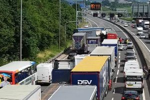 Delays of at least 30 minutes after crash on M62 near Leeds