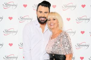 Success celebrated: Diane Cave with Rylan Clark-Neal.