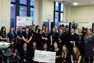 Great Team effort: The hair and beauty students raised �909.32 for Kirkwood Hospice.