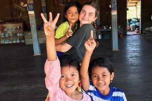 Host Family: Molly Westhead lived with a local family while volunteering in Cambodia.
