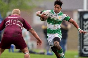 Danny Thomas scored a 57th minute try as Dewsbury Celtic defeated Leigh East in National Conference Division Three.