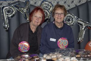 Landmark day: Mary Bennet and Irene Jackson during their 70th birthday party at Jay-Be�.