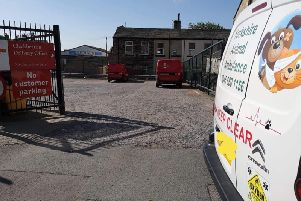 Yorkshire Animal Ambulance parked outside the delivery office in Cleckheaton