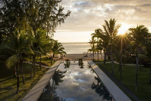 The central part of the Outrigger Resort in Bel Ombre, Mauritius.