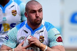 Dewsbury Rams try scorer, Adam Ryder. PIC: Paul Butterfield