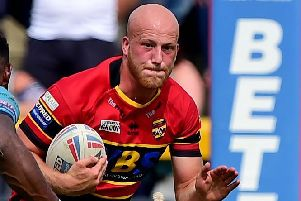 Frazer Morris is hoping to be fit for Dewsbury Rams' final game of the season against Widnes Vikings on Sunday. Picture: Paul Butterfield.