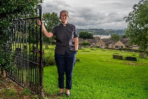 Canon Maggie McLean, pictured in the grounds of the Church of Christ the King Battyeford in Mirfield, was one of the first women to be ordained in the Church of England