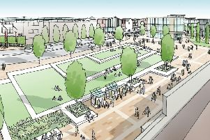 Public squares, public art, housing and shops all feature in plans to transform the area around Doncaster Station.