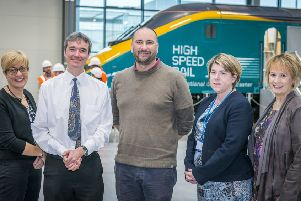Doncaster Free Press round Table on Education System Sam Debbage, deputy director of education DRI, David Kessen, Gwyn ap Harri XP School CEO, Clair Mowbray Chief Executive National College High Speed Rail and Kathryn Dixon, Head of Health and Well Being at Doncaster College