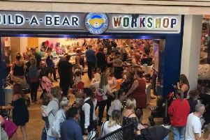 Queues build up at the Meadowhall store.