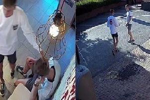 CCTV images of the incident.